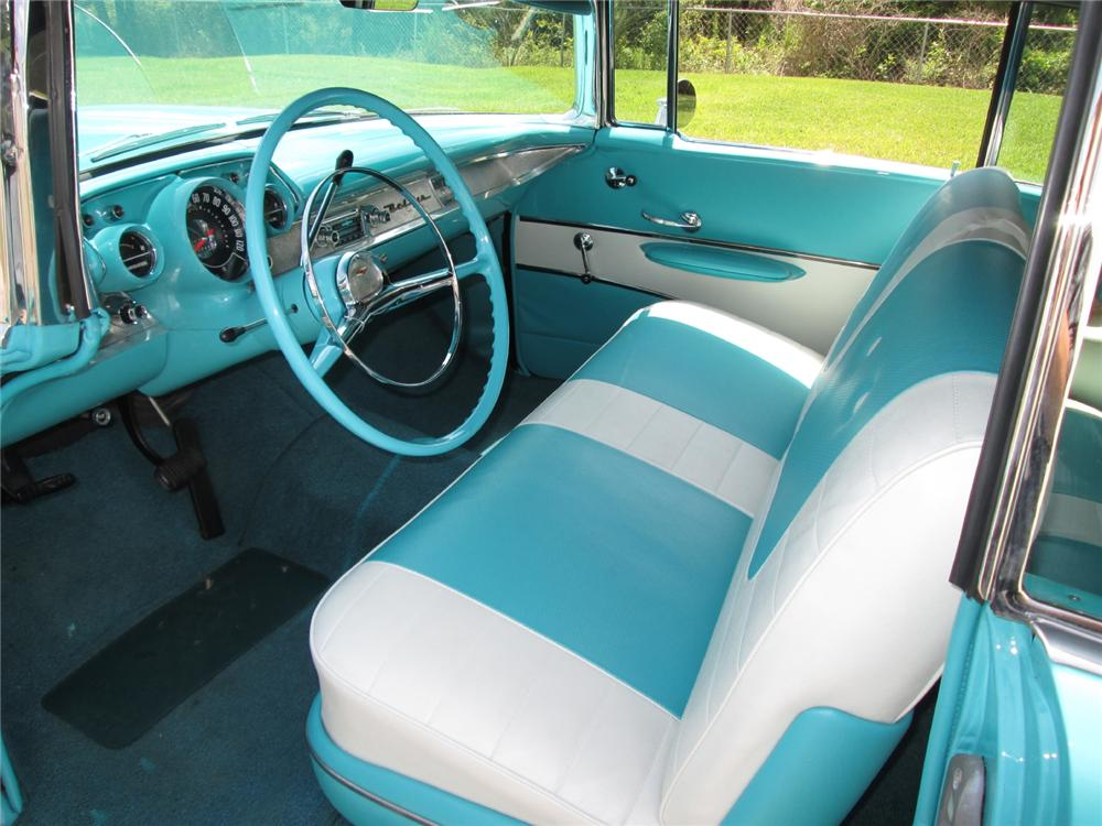 1957 CHEVROLET BEL AIR CONVERTIBLE - Interior - 162142