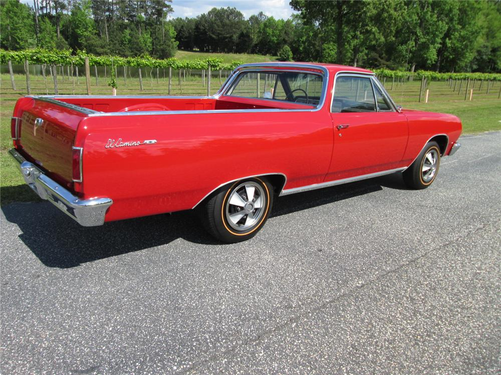 1965 CHEVROLET EL CAMINO PICKUP - Rear 3/4 - 162146