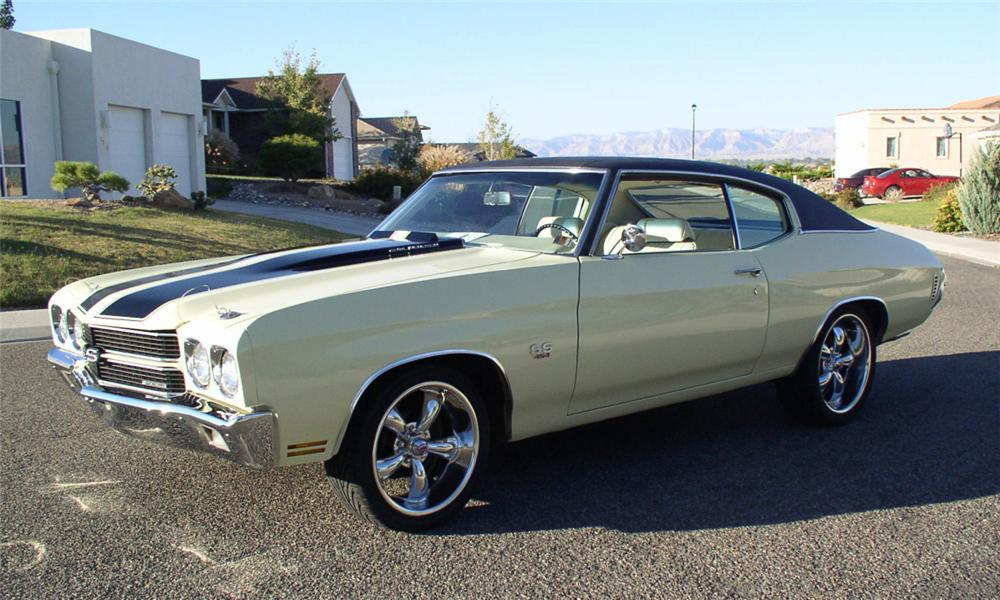 1970 CHEVROLET CHEVELLE SS CUSTOM COUPE - Side Profile - 16215