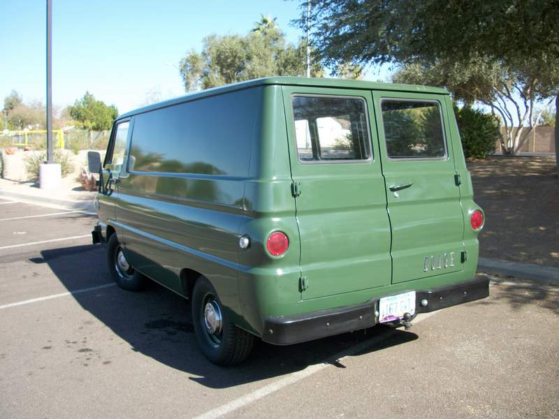 1966 DODGE A100 VAN - Rear 3/4 - 162158