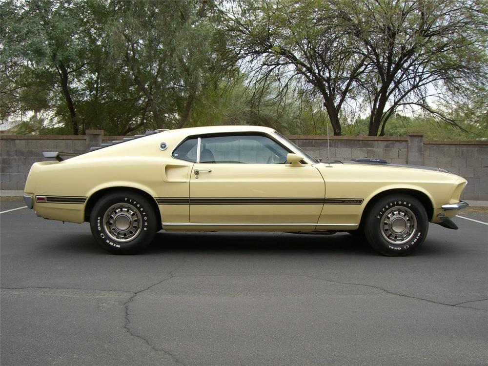1969 FORD MUSTANG MACH 1 FASTBACK - Side Profile - 162193