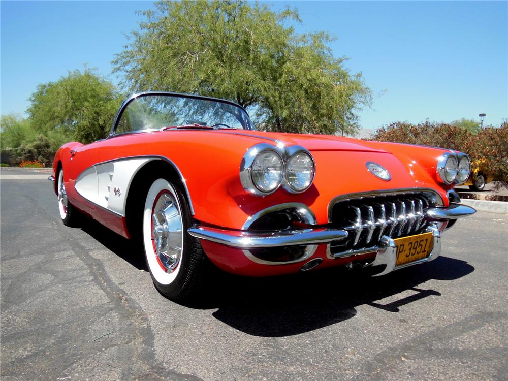 1958 CHEVROLET CORVETTE CONVERTIBLE - Front 3/4 - 162196