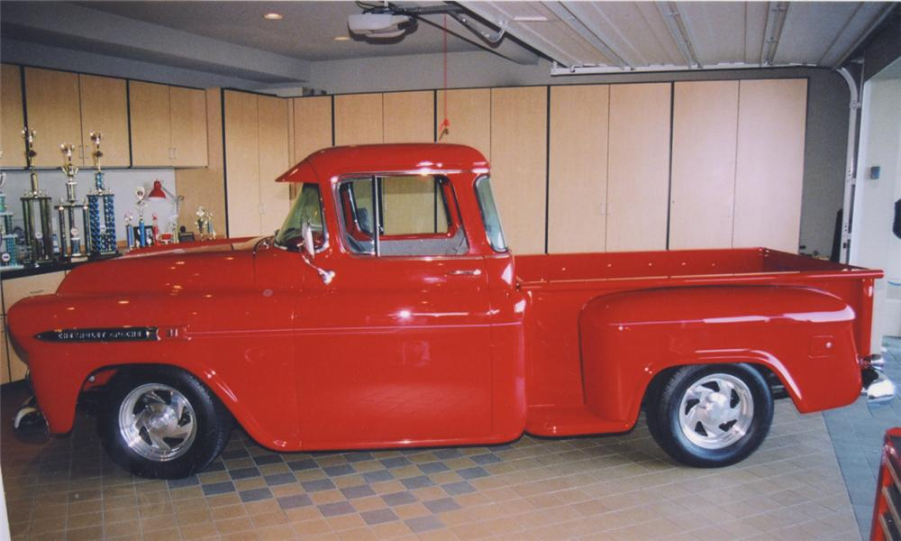 1959 CHEVROLET APACHE CUSTOM PICKUP - Side Profile - 16220