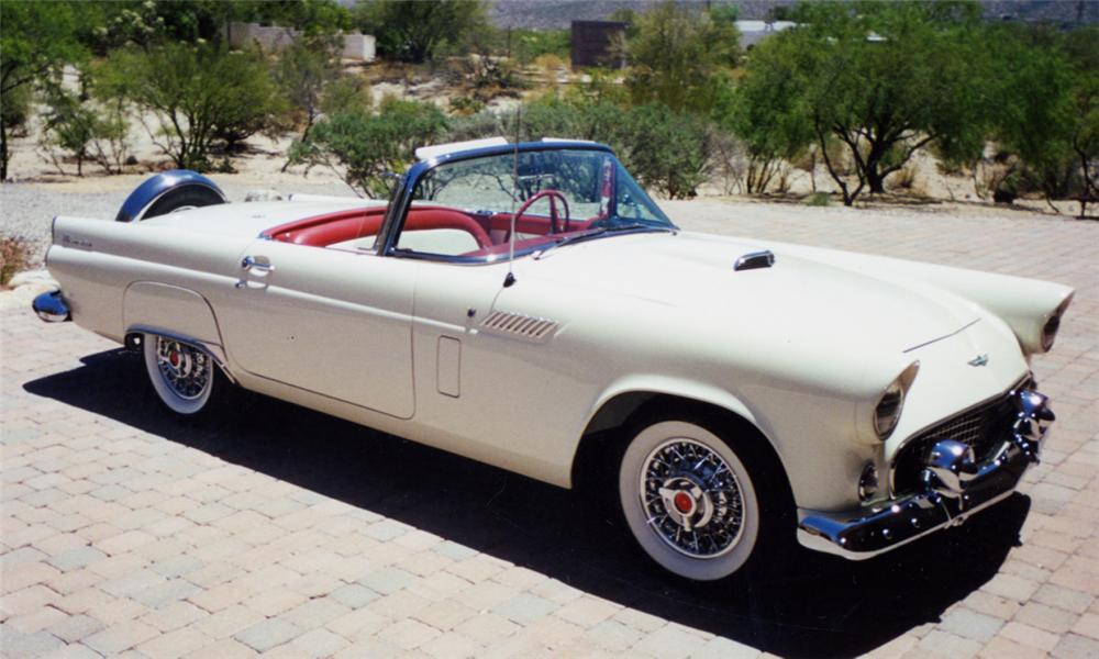 1956 FORD THUNDERBIRD CONVERTIBLE - Front 3/4 - 16221