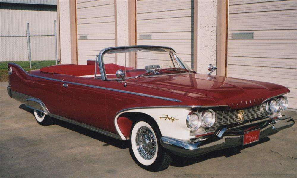 1960 PLYMOUTH FURY CONVERTIBLE - Front 3/4 - 16222