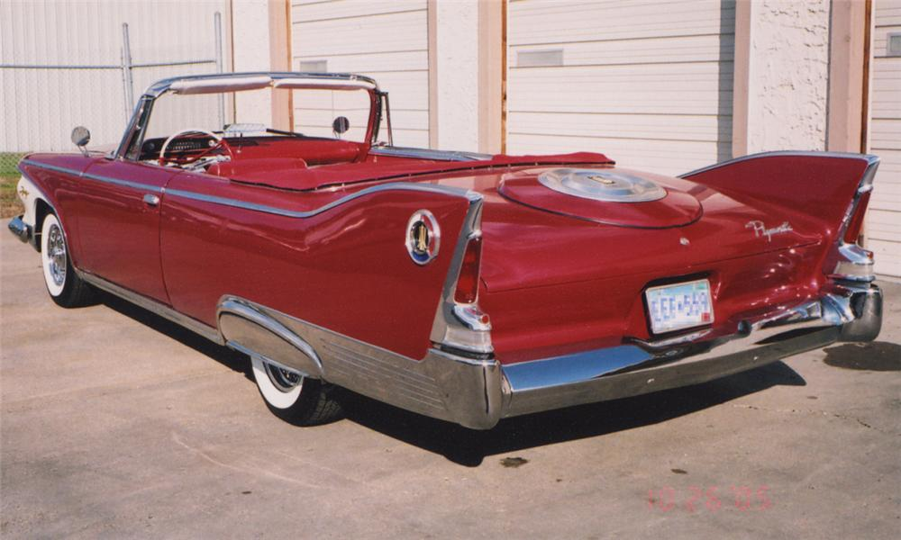 1960 PLYMOUTH FURY CONVERTIBLE - Rear 3/4 - 16222