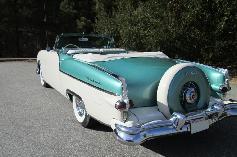 1954 PACKARD CARIBBEAN CONVERTIBLE - Rear 3/4 - 162225