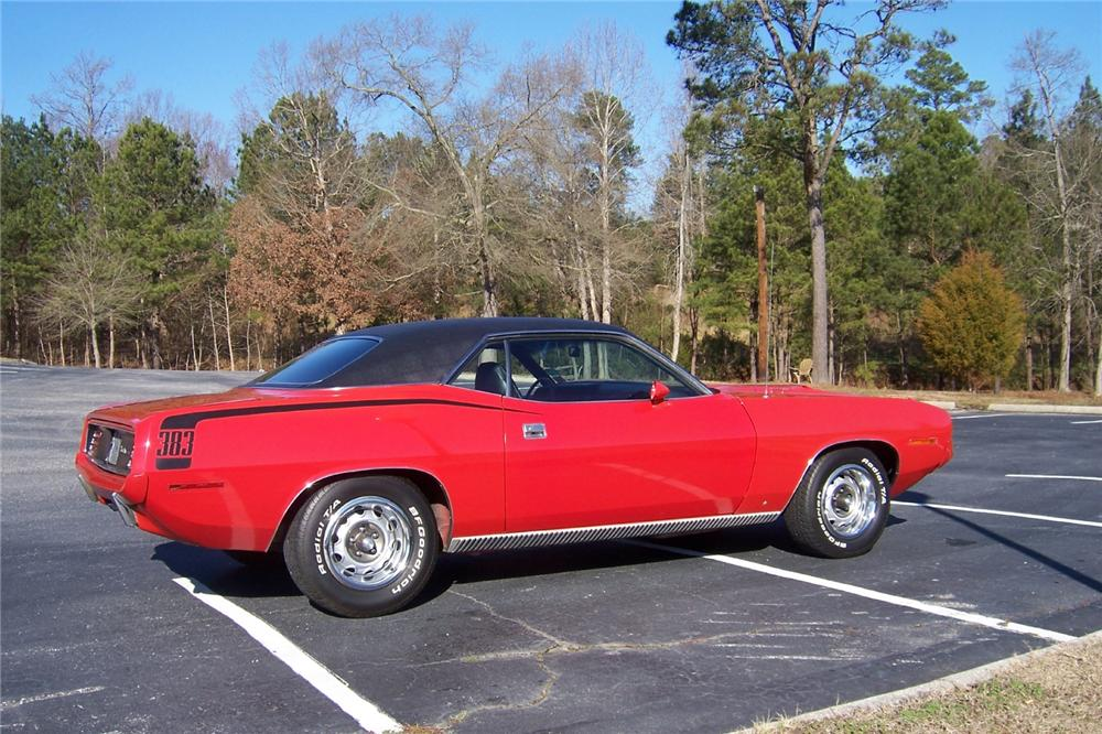 1970 PLYMOUTH CUDA 2 DOOR COUPE - Side Profile - 162227
