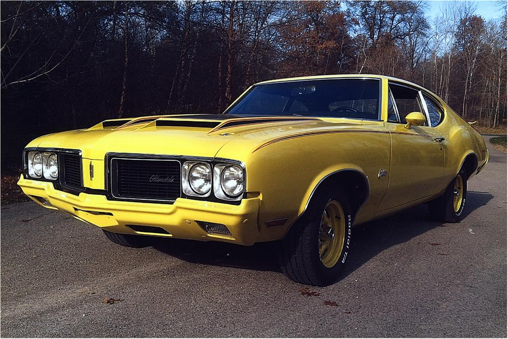 1970 OLDSMOBILE RALLYE 350 CUTLASS F-85 POST COUPE - Front 3/4 - 162236