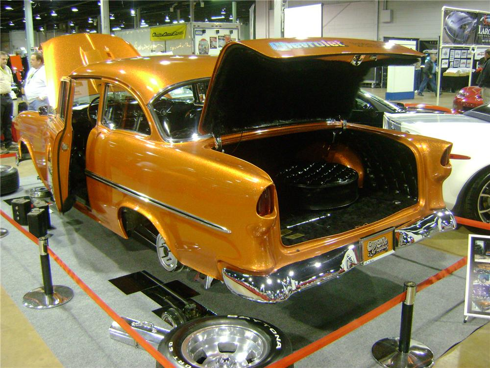 1955 CHEVROLET 150 CUSTOM SEDAN - Rear 3/4 - 162248
