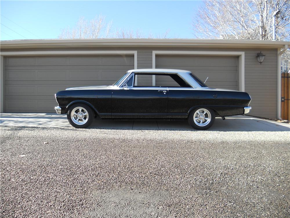 1965 CHEVROLET NOVA SS CUSTOM 2 DOOR HARDTOP - Side Profile - 162256