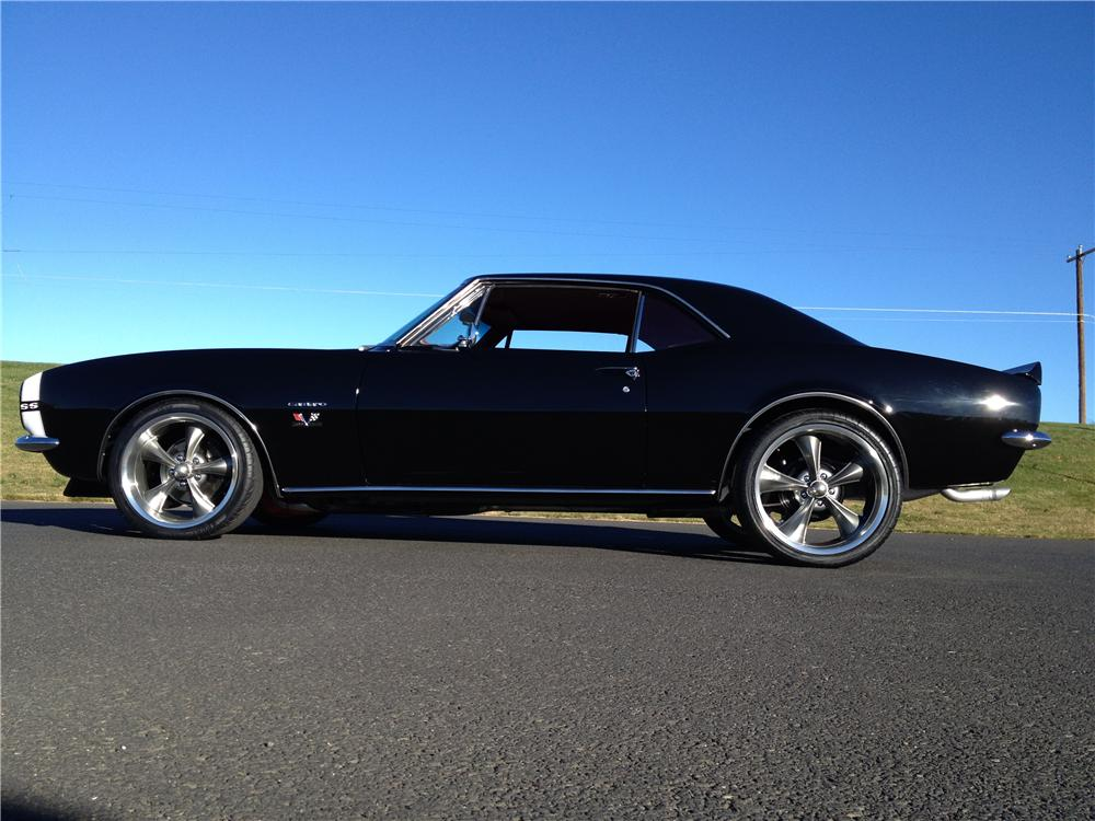 1967 CHEVROLET CAMARO CUSTOM 2 DOOR COUPE - Side Profile - 162274
