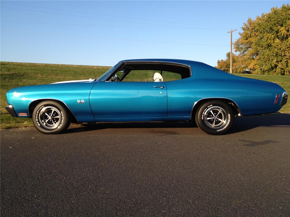 1970 CHEVROLET CHEVELLE 2 DOOR COUPE - Side Profile - 162286
