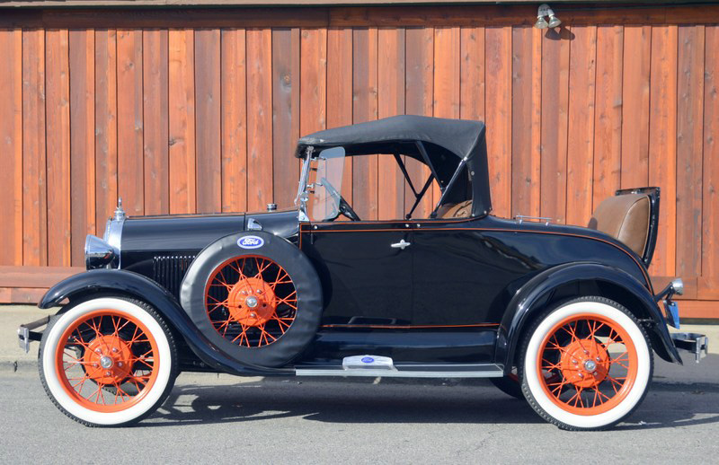 1929 FORD 2 DOOR ROADSTER - Side Profile - 162287