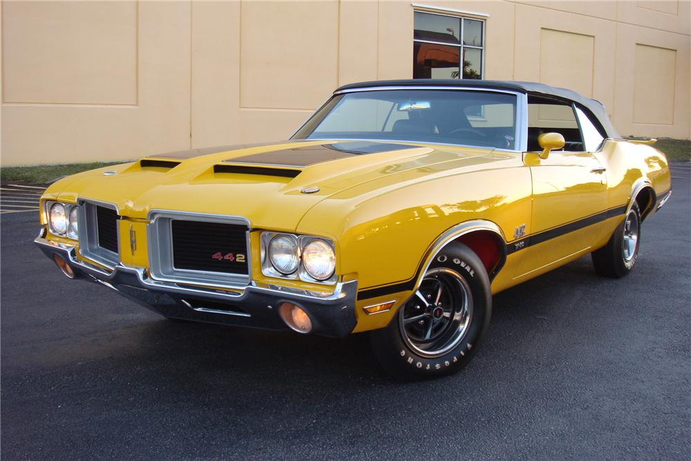 1971 OLDSMOBILE 442 W30 CONVERTIBLE - Side Profile - 162308