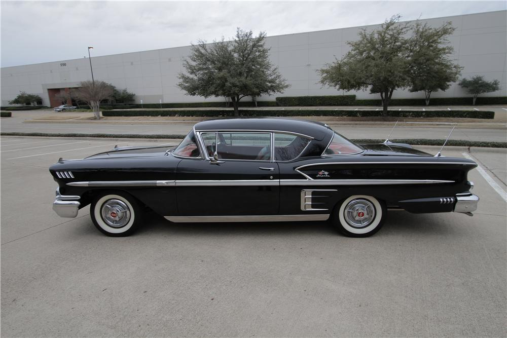 1958 CHEVROLET IMPALA 2 DOOR COUPE - Side Profile - 162312