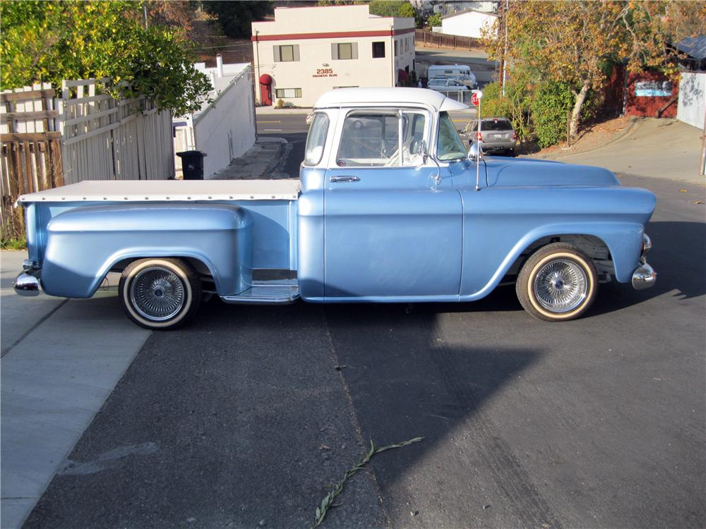 1958 GMC CUSTOM PICKUP - Side Profile - 162316