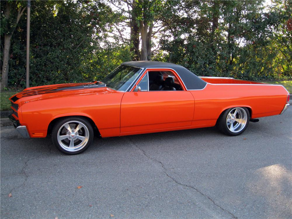 1970 CHEVROLET EL CAMINO CUSTOM PICKUP - 162321