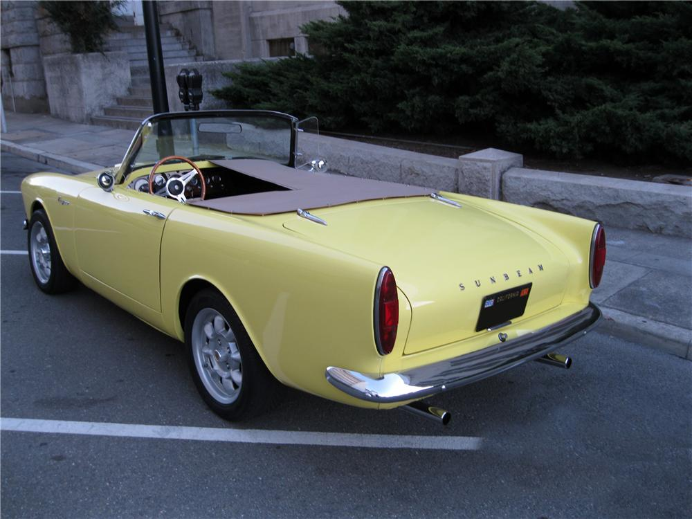 1967 SUNBEAM TIGER ROADSTER - Rear 3/4 - 162326