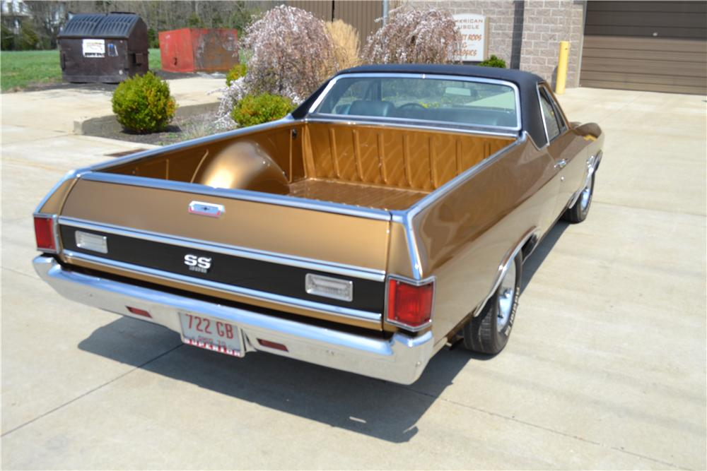 1970 CHEVROLET EL CAMINO SS PICKUP - Rear 3/4 - 162333