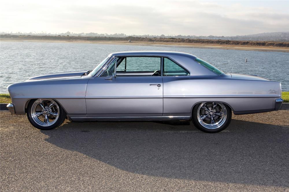 1966 CHEVROLET NOVA CUSTOM 2 DOOR HARDTOP - Side Profile - 162338