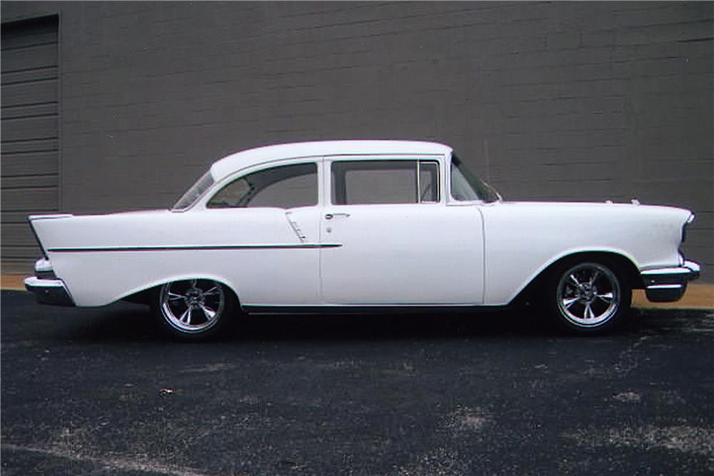 1957 chevrolet 150 custom 2 door post 162357