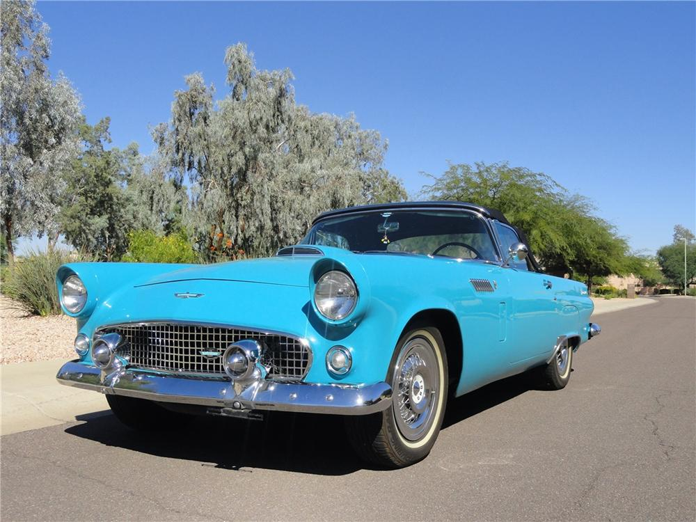 1956 FORD THUNDERBIRD CONVERTIBLE - Front 3/4 - 162369