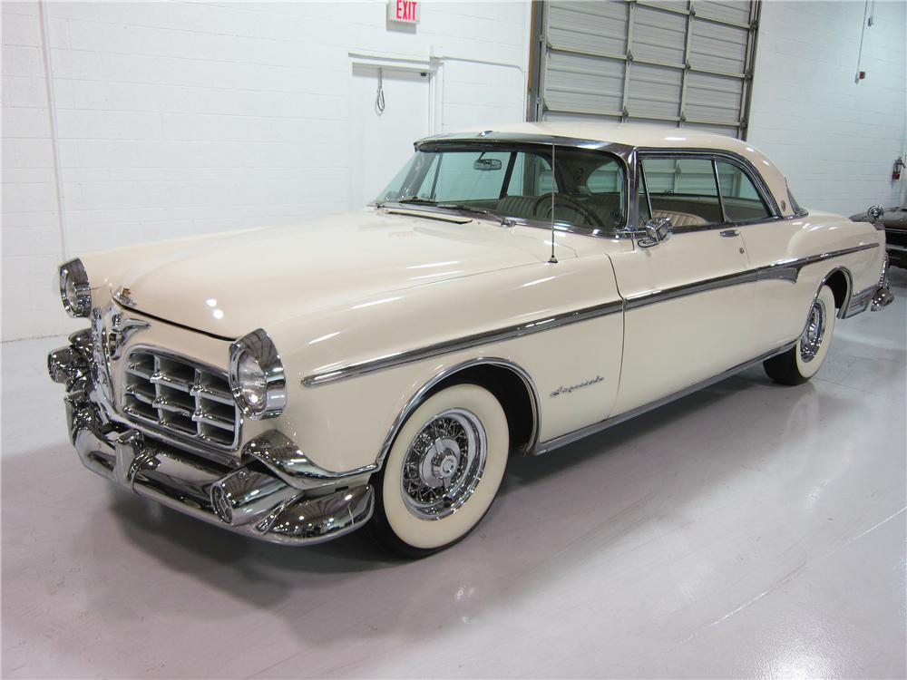 1955 CHRYSLER IMPERIAL 2 DOOR HARDTOP - Front 3/4 - 162373