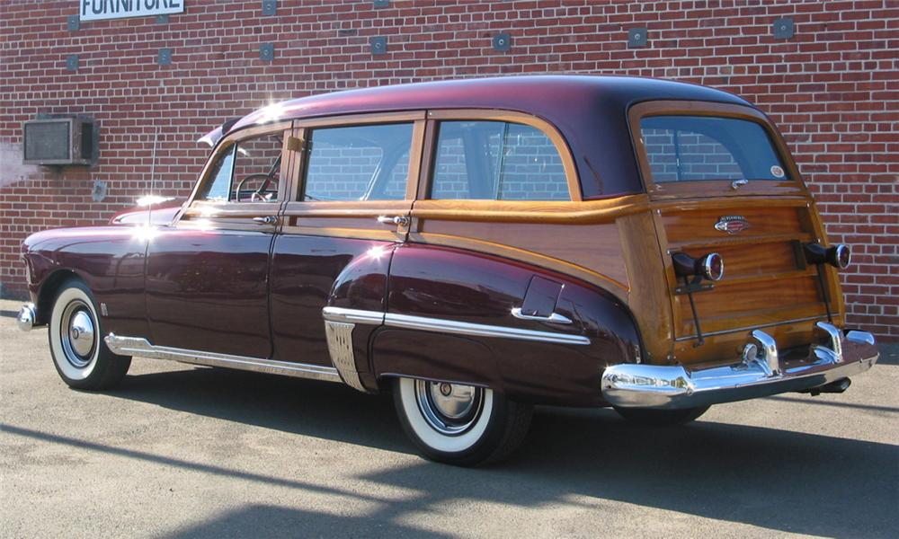 1949 OLDSMOBILE WOODY WAGON - Rear 3/4 - 16238