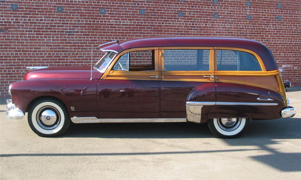 1949 OLDSMOBILE WOODY WAGON - Side Profile - 16238
