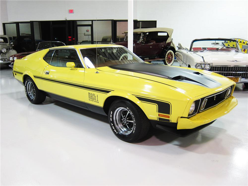 1973 FORD MUSTANG MACH 1 2 DOOR FASTBACK - Front 3/4 - 162383