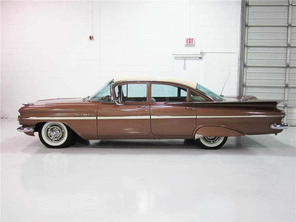 1959 CHEVROLET BEL AIR 4 DOOR SEDAN - Side Profile - 162384