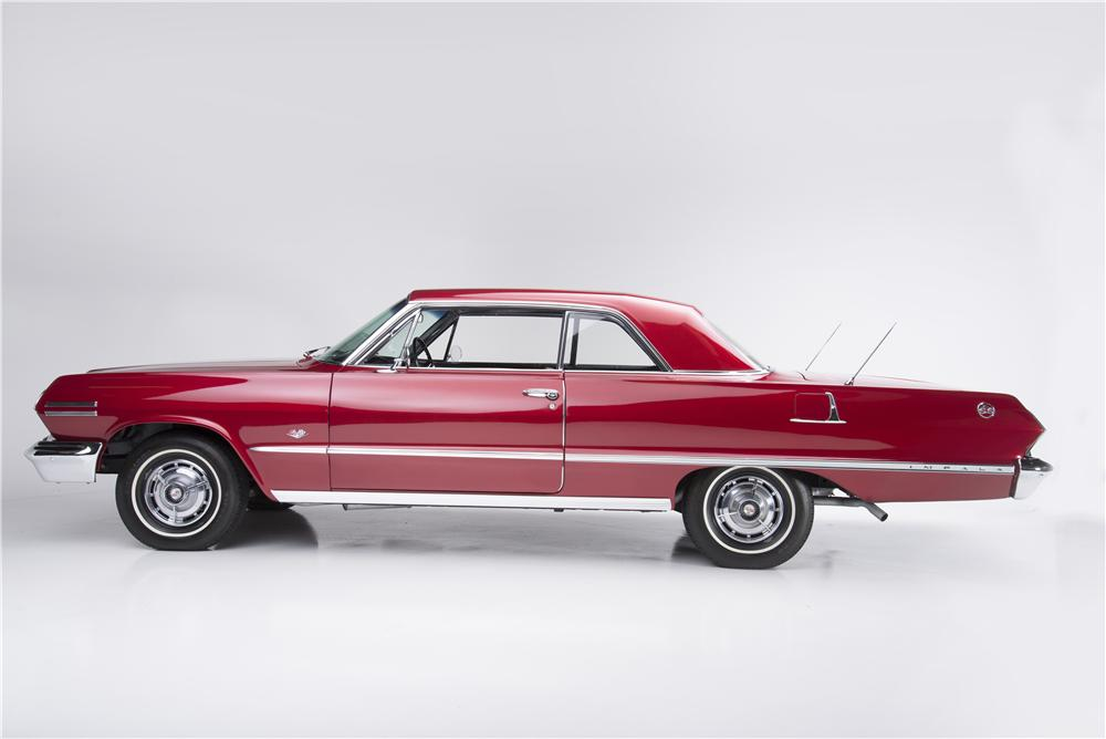 1963 CHEVROLET IMPALA SS 2 DOOR HARDTOP - Side Profile - 162399