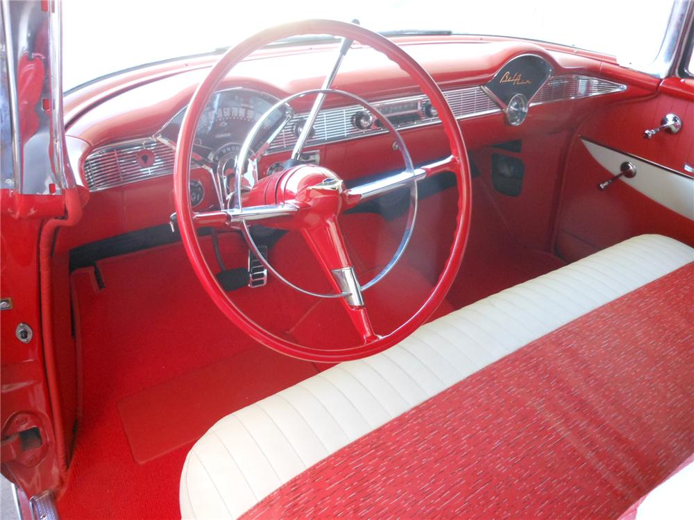 1956 CHEVROLET BEL AIR CUSTOM CONVERTIBLE - Interior - 162419