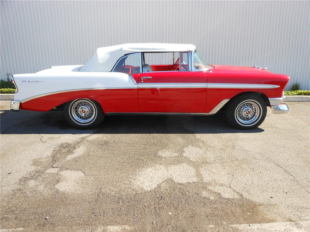 1956 CHEVROLET BEL AIR CUSTOM CONVERTIBLE - Side Profile - 162419