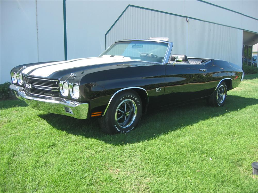1970 CHEVROLET CHEVELLE SS CONVERTIBLE - Front 3/4 - 162420