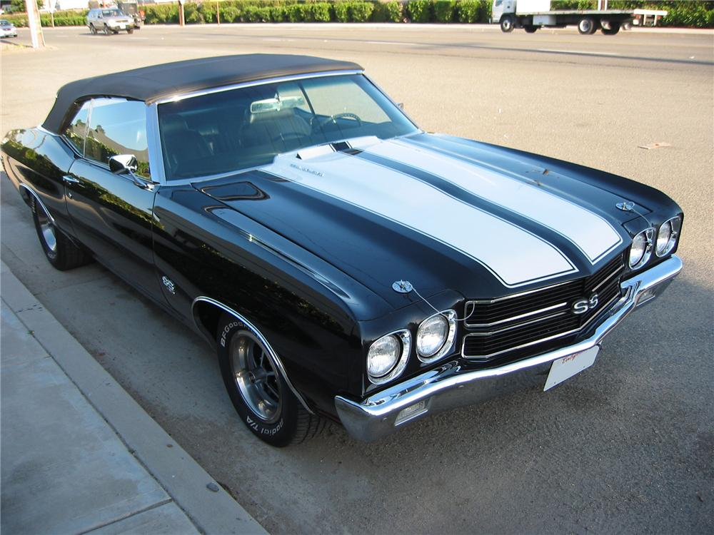 1970 CHEVROLET CHEVELLE SS CONVERTIBLE - Side Profile - 162420