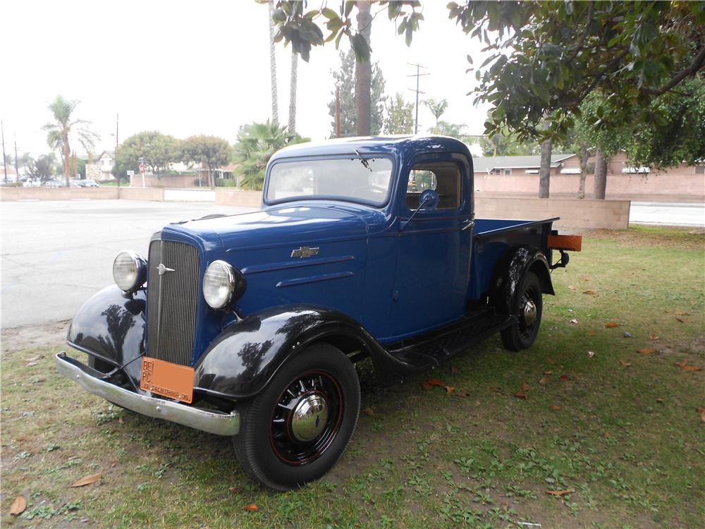 1936 CHEVROLET 3100 PICKUP - Side Profile - 162429
