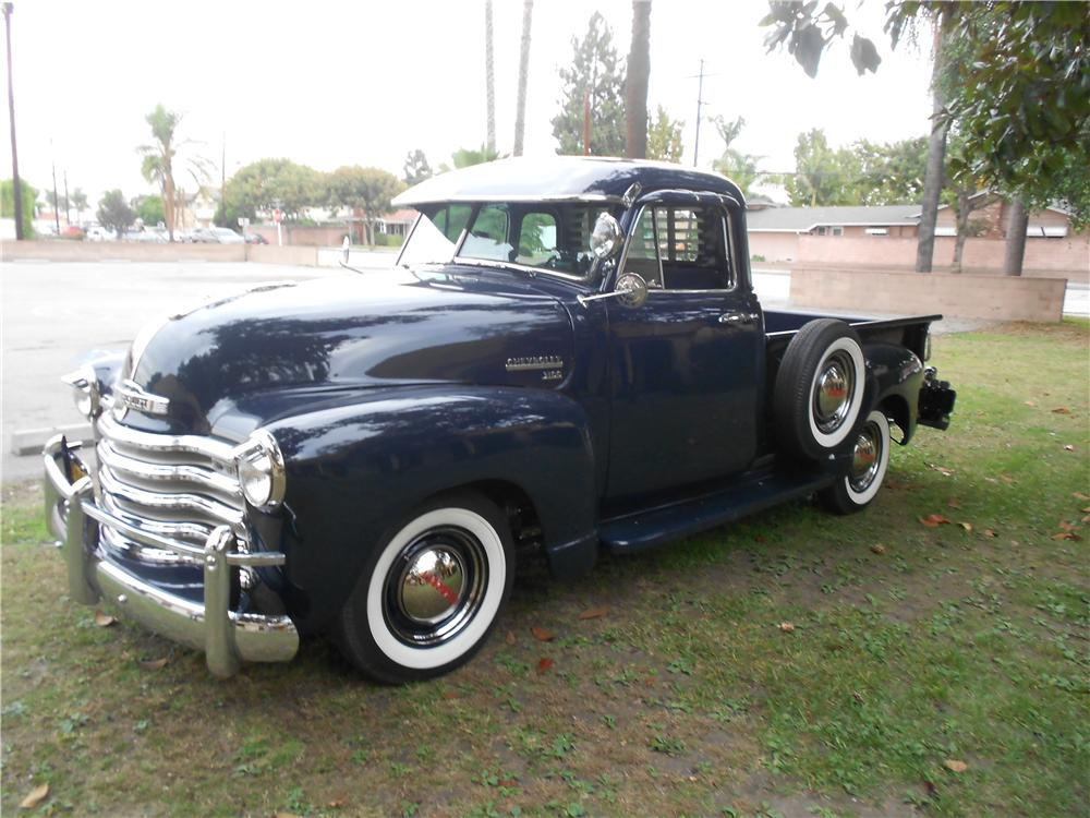 1952 CHEVROLET 5 WINDOW PICKUP - Side Profile - 162432