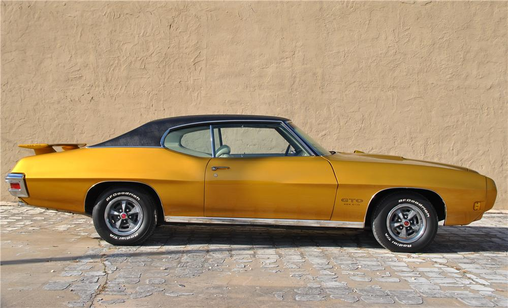 1970 PONTIAC GTO 2 DOOR COUPE - Side Profile - 162434