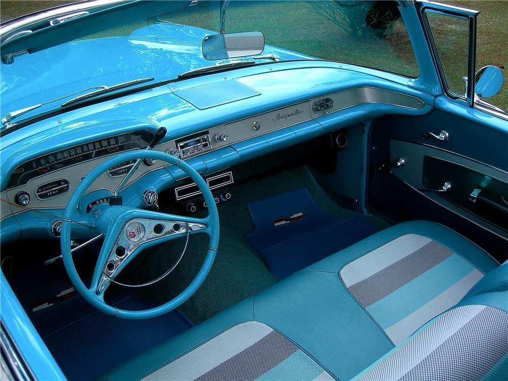 1958 CHEVROLET IMPALA CUSTOM CONVERTIBLE - Interior - 162441