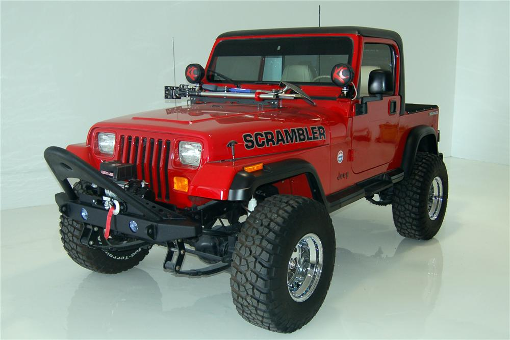 1990 JEEP SCRAMBLER CUSTOM PICKUP - Front 3/4 - 162448