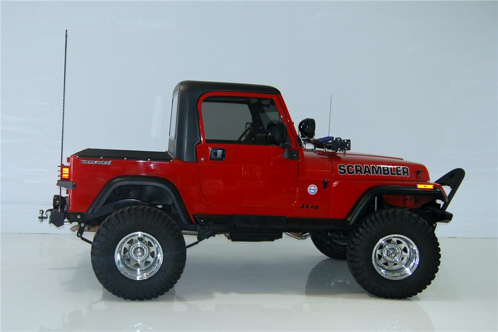 1990 JEEP SCRAMBLER CUSTOM PICKUP - Side Profile - 162448