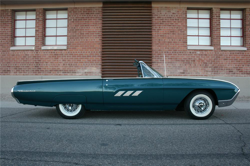 1963 FORD THUNDERBIRD CONVERTIBLE - Side Profile - 162459