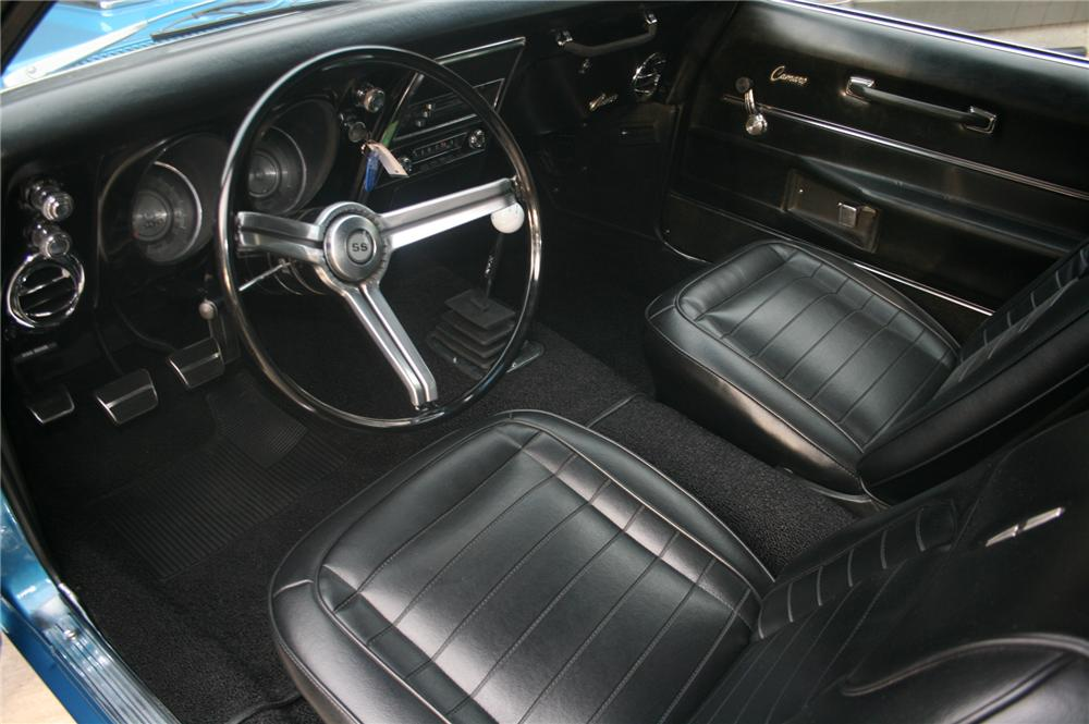 1968 CHEVROLET CAMARO RS/SS 2 DOOR COUPE - Interior - 162460