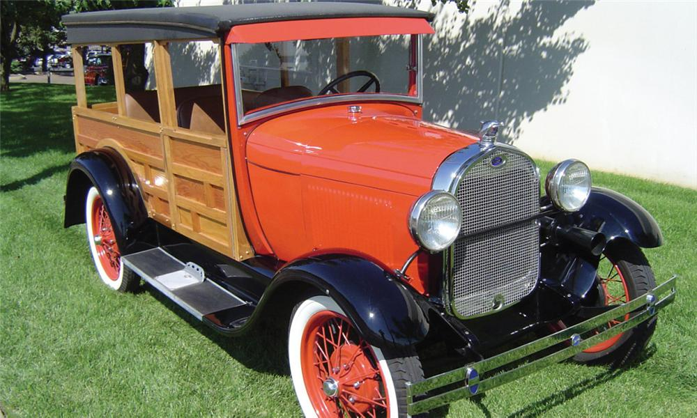 1929 FORD MODEL A WOODY - Front 3/4 - 16247