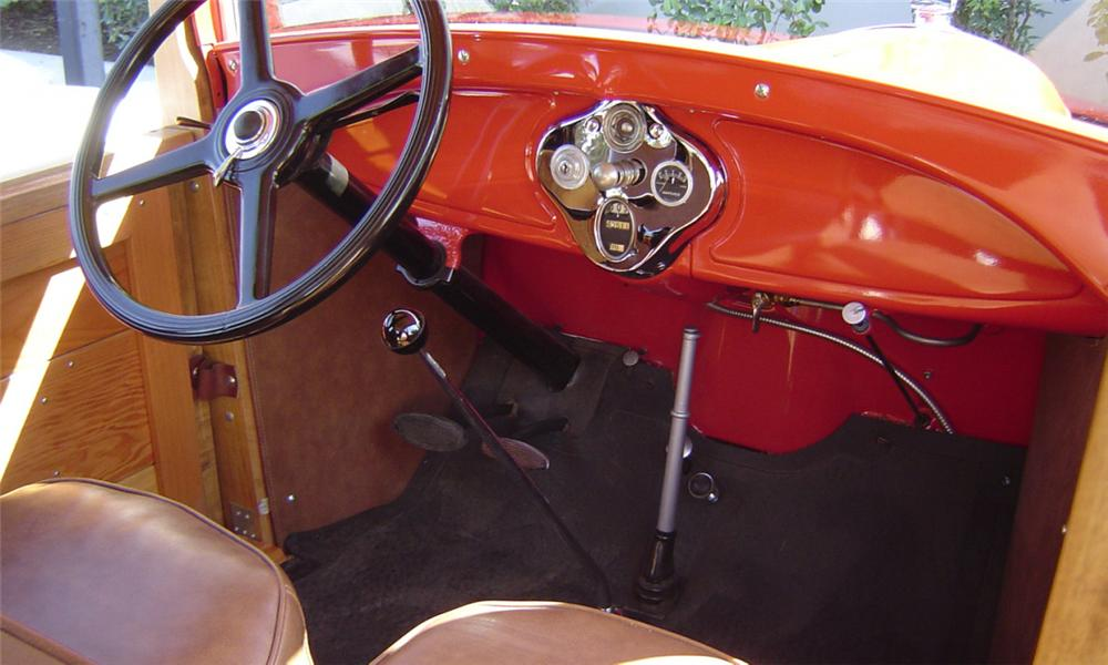 1929 FORD MODEL A WOODY - Interior - 16247
