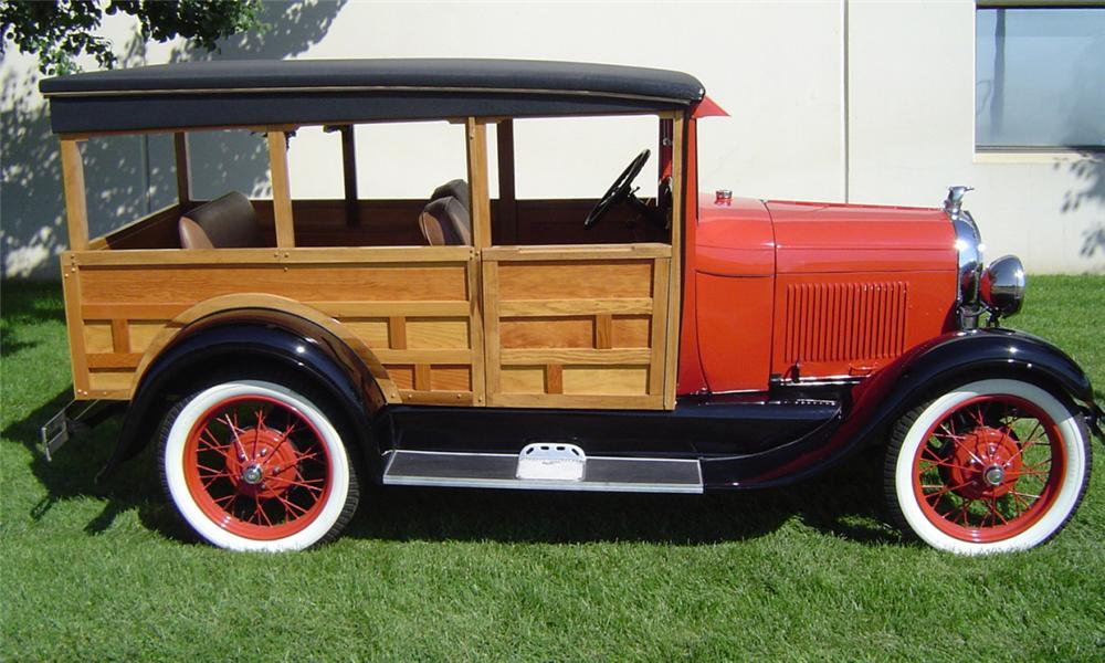 1929 FORD MODEL A WOODY - Side Profile - 16247