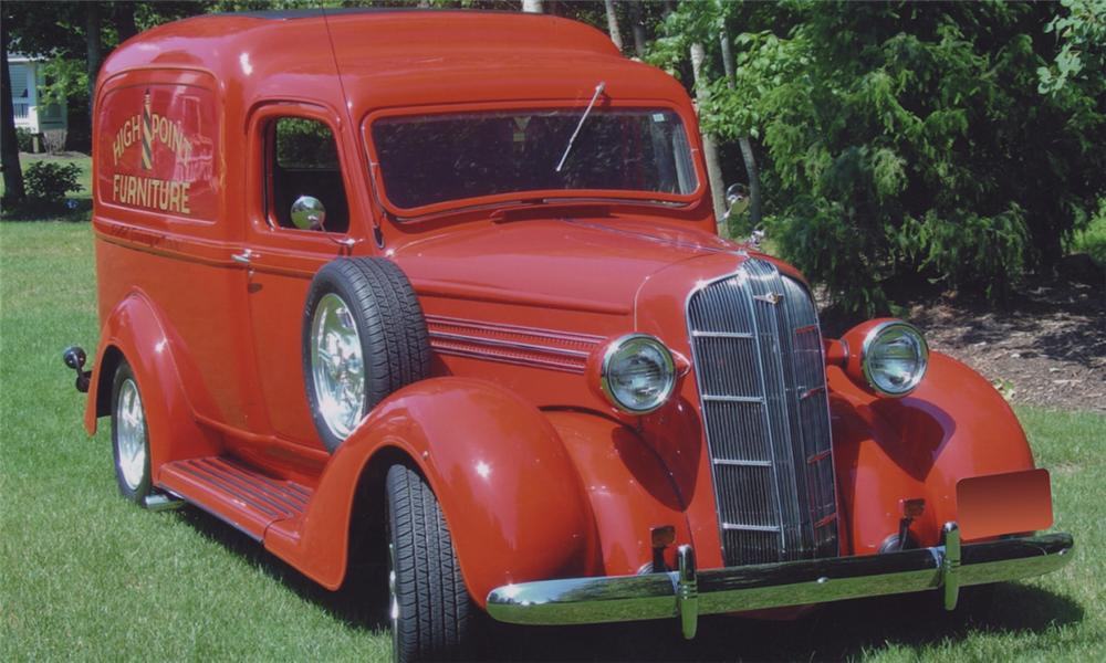 1936 DODGE HUMPBACK CUSTOM PANEL DELIVERY - Front 3/4 - 16251