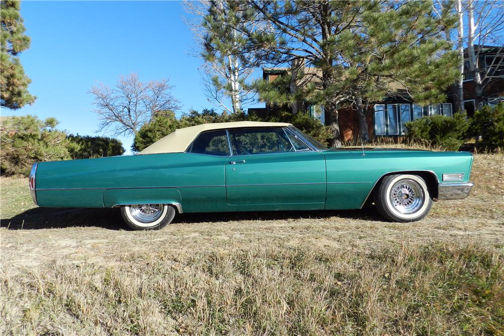 1968 CADILLAC DE VILLE CONVERTIBLE - Side Profile - 162596